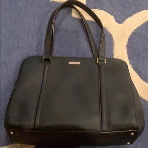 Kate Spade black leather tote/shoulder bag